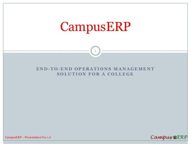 College ERP software, Campus ERP, CampusERP Software for Sales.