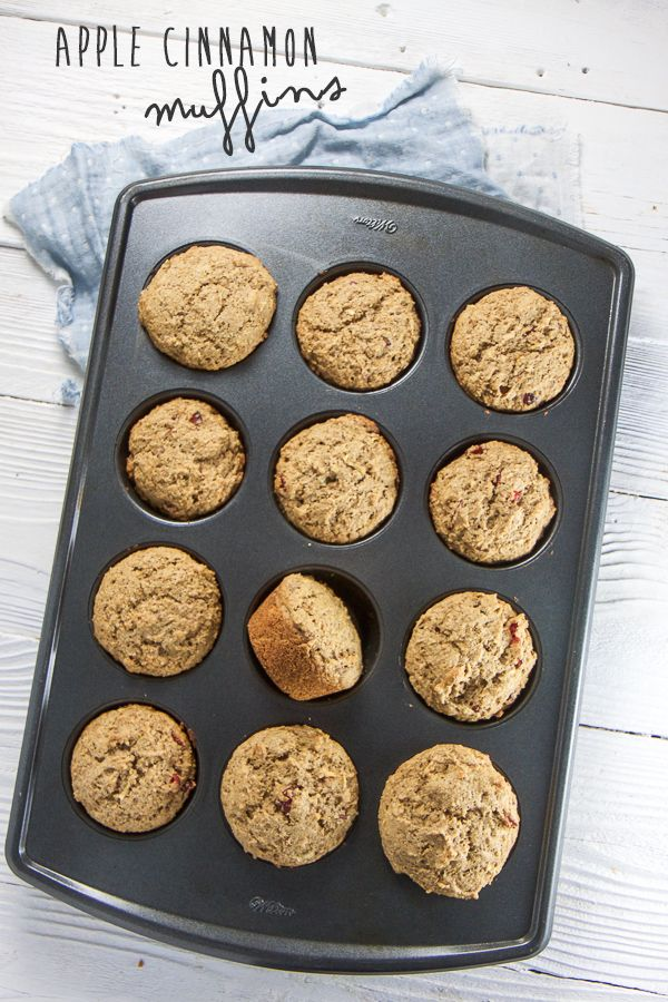 These wholesome Apple Cinnamon Muffins are filled with whole wheat, fiber rich apples, pecans, dried cranberries and heart-healthy olive oil.