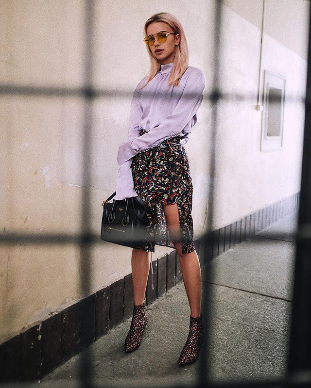 Instagram media by maffashion_official - #ootd @zara #shoes #dress @celine #bag @magdabutrym #dress @dior #glasses