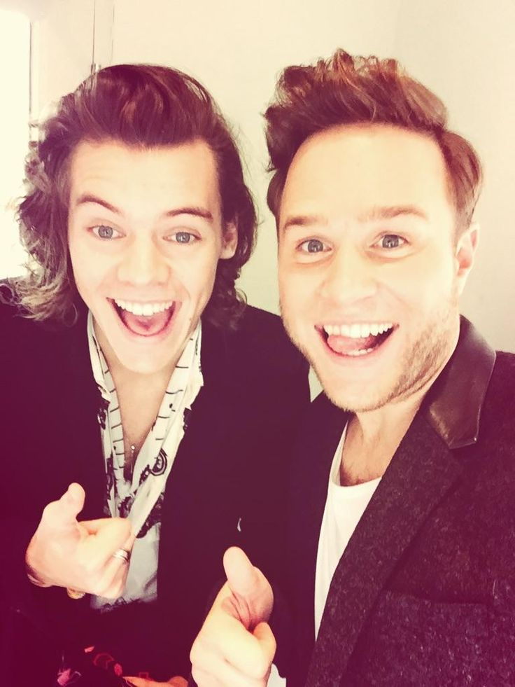 Harry Styles and Olly Murs My sweeties:)