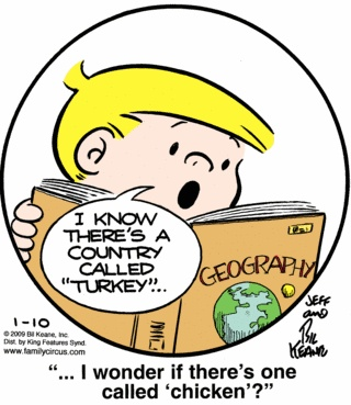 A country called Turkey :) #puns #funny #words #English