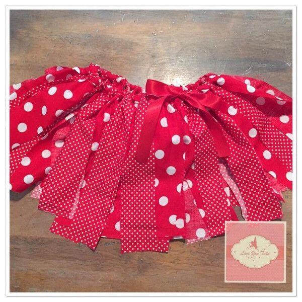 Red shabby tutu 2-4yrs