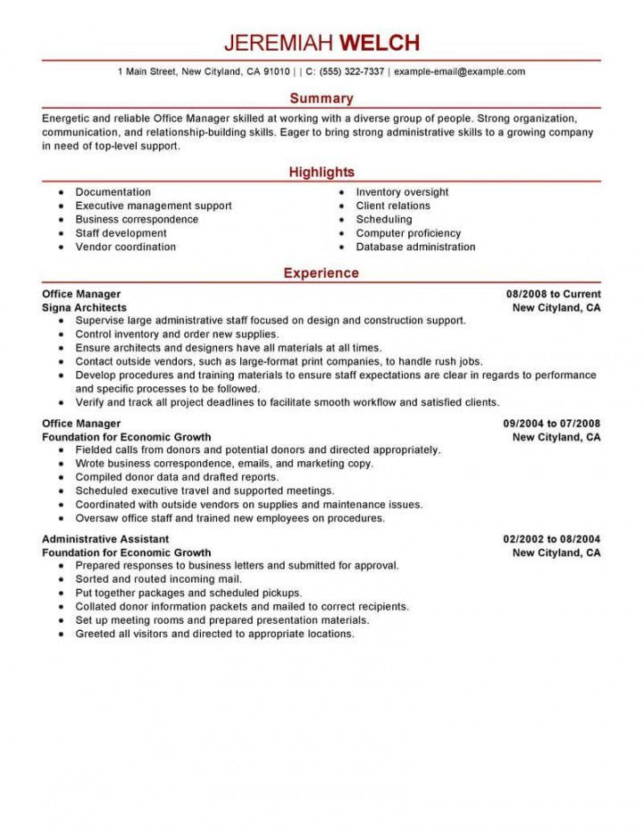 Get our example of office manager job description template