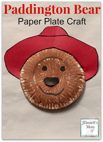 Paddington Bear Paper Plate Craft