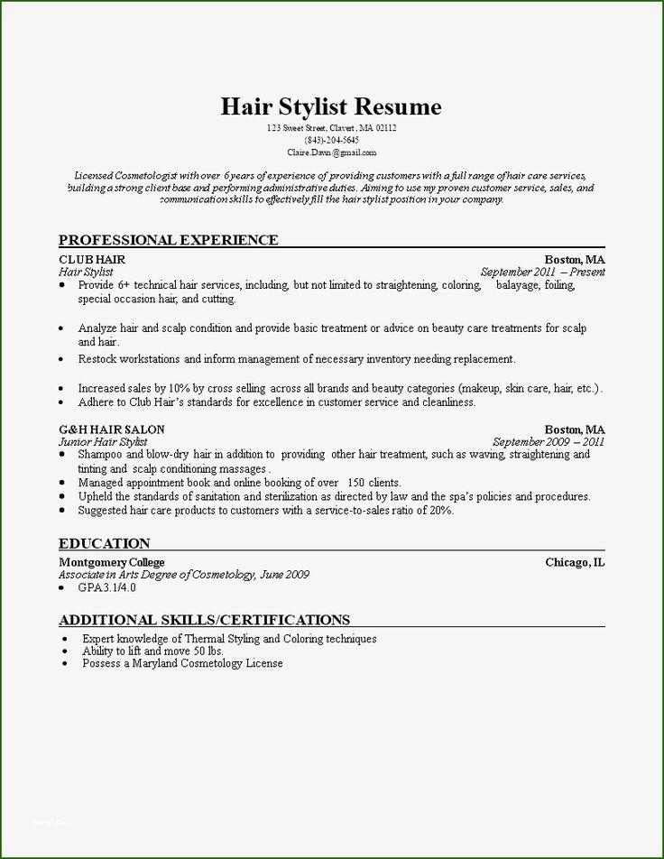 12 fine hair stylist resume template in 2020 resume