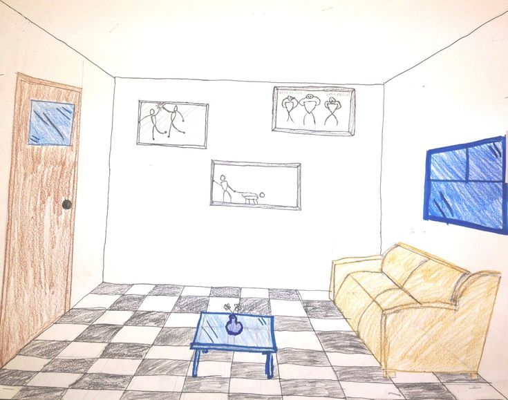 One Point Perspective   Room Interior. One Point Perspective Rooms By My  Middle School Students (6th And 7th Graders) Part 42
