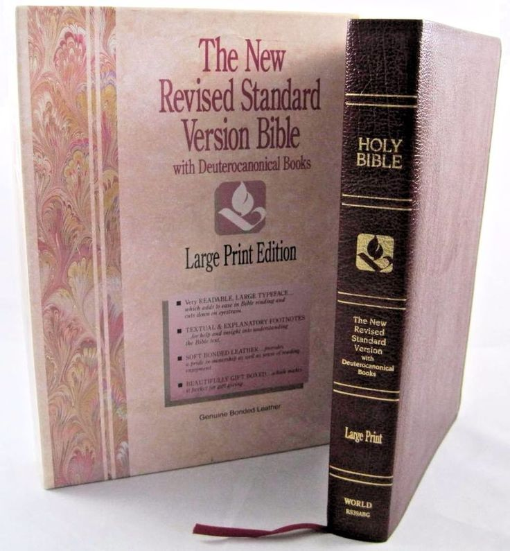 New Revised Standard Version Bible Deuterocanonical Books LARGE PRINT NEW + Box.  Available at BooksBySam.com