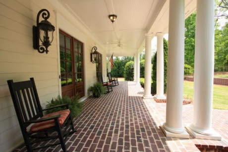 Southern front porch.