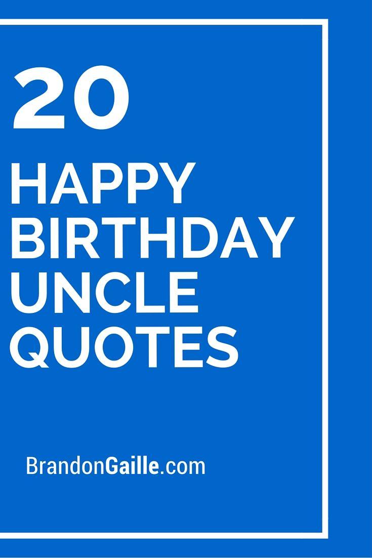 20 Happy Birthday Uncle Quotes