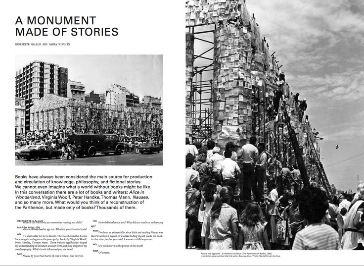 Marta Minujín Henriette Gallus A Monument Made of Stories  Mousse 58 Learning from Athens. An issue about documenta 14
