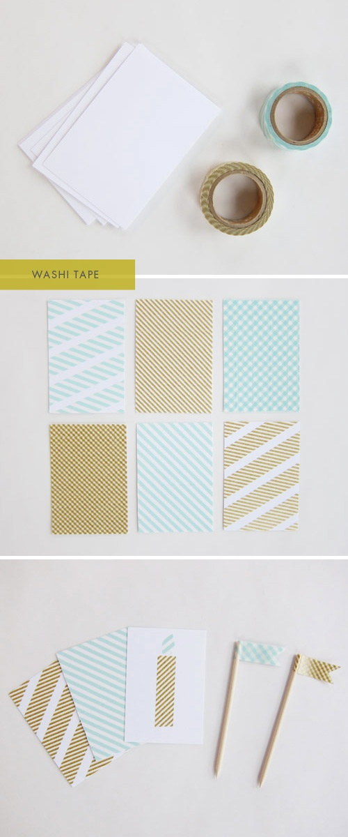 Washi Tape DIY Notecard Design Inspiration