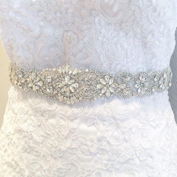 Crystal Rhinestone Belt with Clasp Bridal Belt Bridal Sash