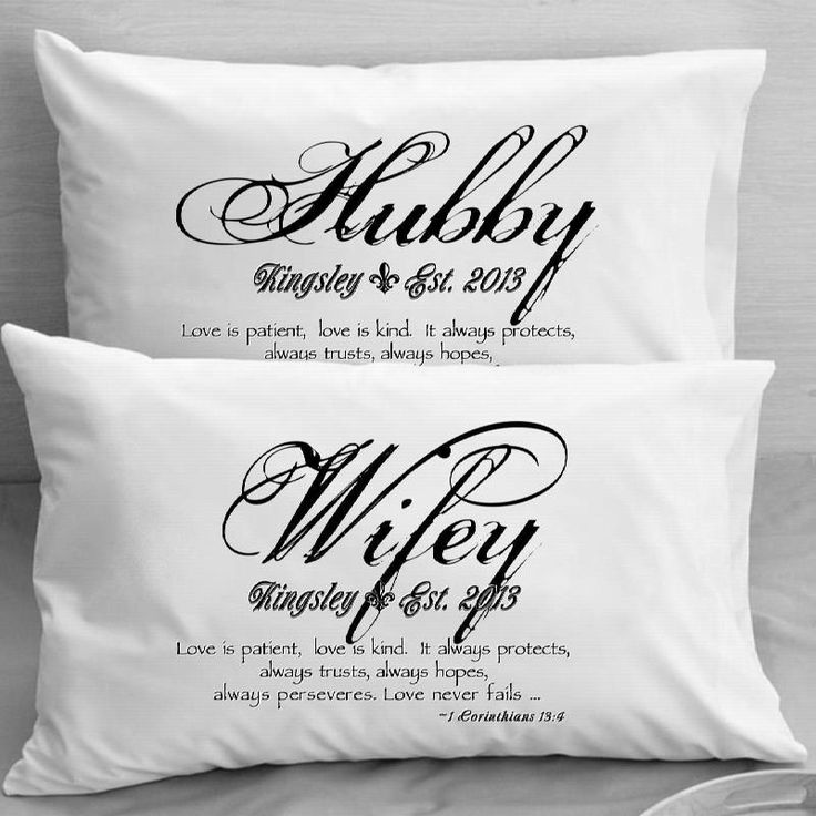 1 Corinthians 13 Love Verse Pillow Cases Mr Mrs Wife Husband Wedding Anniversary Gift Idea For Is Patient Kind