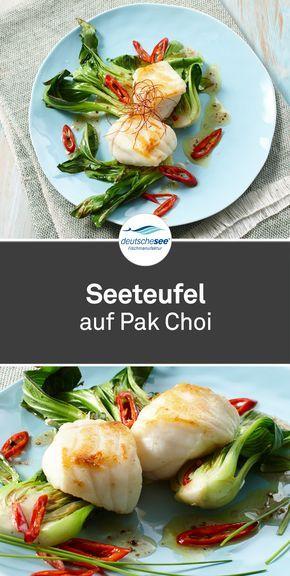 Handfiletierter #Seeteufel kombiniert mit gebratenem Pak Choi und asiatischen Ar…