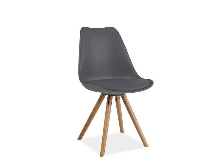 Krzesło ERIC siedzisko i oparcie wykonane ma z trwałego polipropylenu, dodatkowo na siedzisku znajduje się wygodna poduszka obszyta ekoskórą