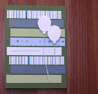 Card using those little scraps of leftover paper!  (this is also a great site for craft room storage and organization)