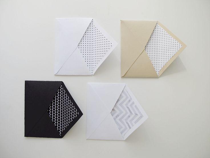patterned envelopes - design and form