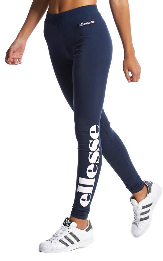 Ellesse Trevalli Leggings - Navy/White - Womens https://www.etsy.com/shop/ElectricTurtles