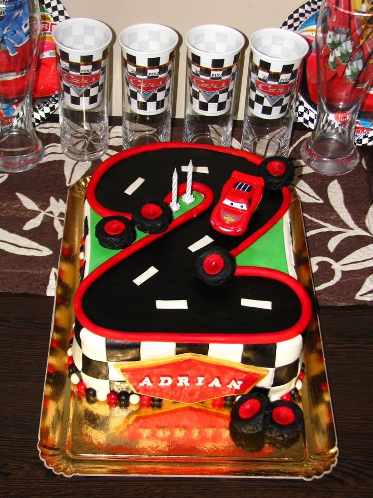 Cars cake for Adrian's 2nd birthday VIII