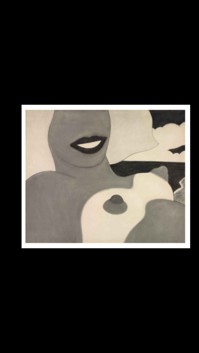 """Tom Wesselmann - """"Study for Great American Nude # 84"""", 1965 - Charcoal on paper - 121,3 x 146 cm"""