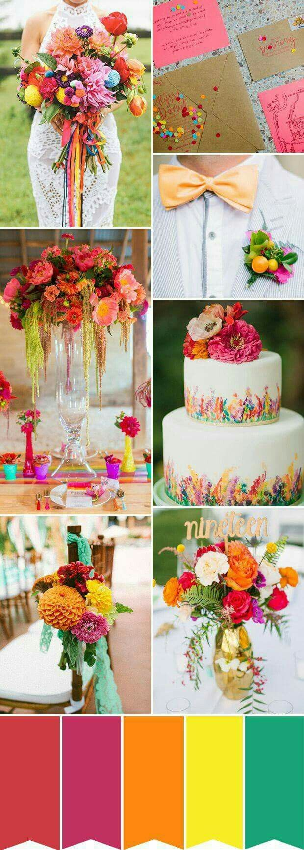 2122 best wedding love images on pinterest wedding ideas colorful rustic summer wedding inspiration with red yellow and green junglespirit Gallery