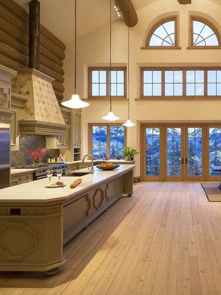 What a warm kitchen for the Fall season! This 9 bedroom compound is nestled in ski   snow territory, and features a combination of rich interior design paired with Tuscan farmhouse comfort. Located in Mountain Village, CO, this home is listed by Bill Fandel of @sothebysrealty for $8.5M. | http://rltr.cm/mout