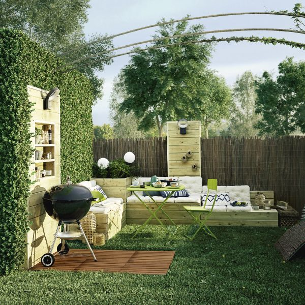 247 best images about jardin on pinterest coins terrace and shade screen. Black Bedroom Furniture Sets. Home Design Ideas
