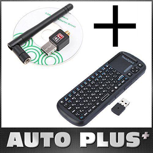 mylunn £ š TM) Mini 150M USB Wifi adaptateur LAN sans fil carte réseau Wi-Fi Antenne + Russe Version iPazzPort Clavier sans fil 2.4G Air…