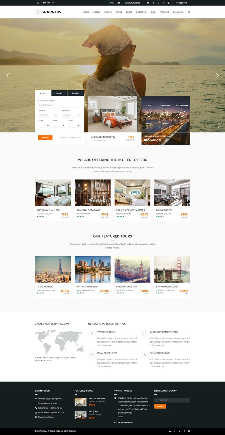 Sparrow – Responsive Journey On-line Reserving Template #website online #trip #lodge • Do…