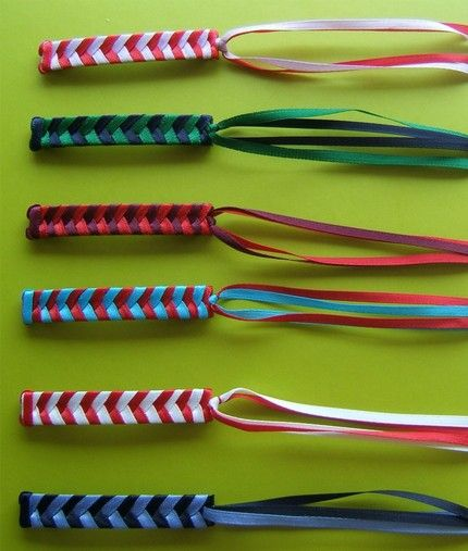 Braided ribbon barrettes.