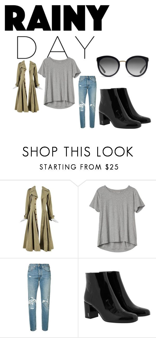 """""""Kendall Jenner"""" by mandalinaqitrydewi on Polyvore featuring Gap, Levi's, Yves Saint Laurent and Dolce&Gabbana"""