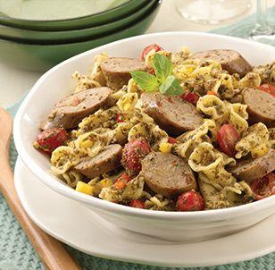 al fresco® Recipe - Sundried Tomato Chicken Sausage Pesto And Pasta