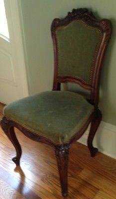 last call antique french ornately carved chairs from paris each