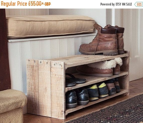 Top 25 best shoe rack pallet ideas on pinterest diy - Meuble chaussure en palette ...