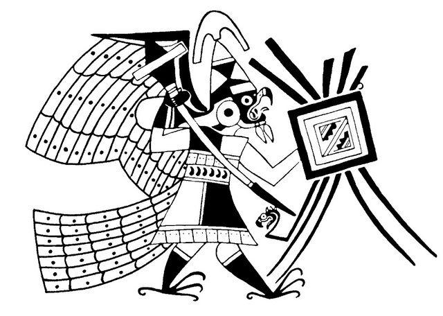 BibliOdyssey: Ancient Designs - Mexico + PeruWarriors Birds, Peru, Eagles Warriors, Ancient Design, Stylised Warriors, Stylis Warriors, Ancient Moche
