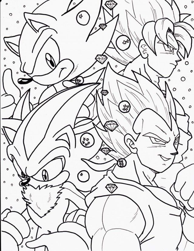 Goku Vs Sonic Coloring Pages Sonic Para Colorear Sonic Colores
