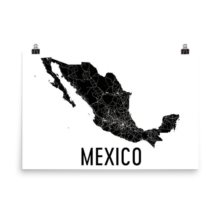Mexico Map Poster 26 best Pais images