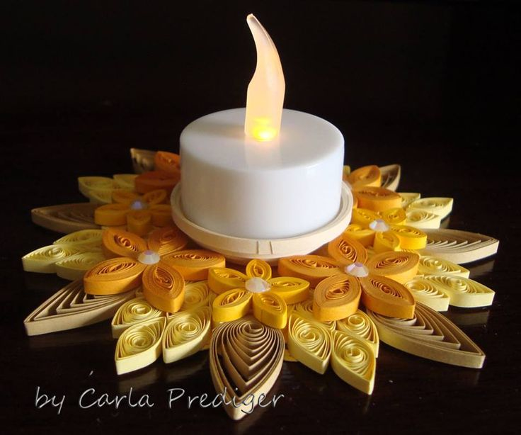 Quilled Candle Holder                                                                                                                                                                                 Mais
