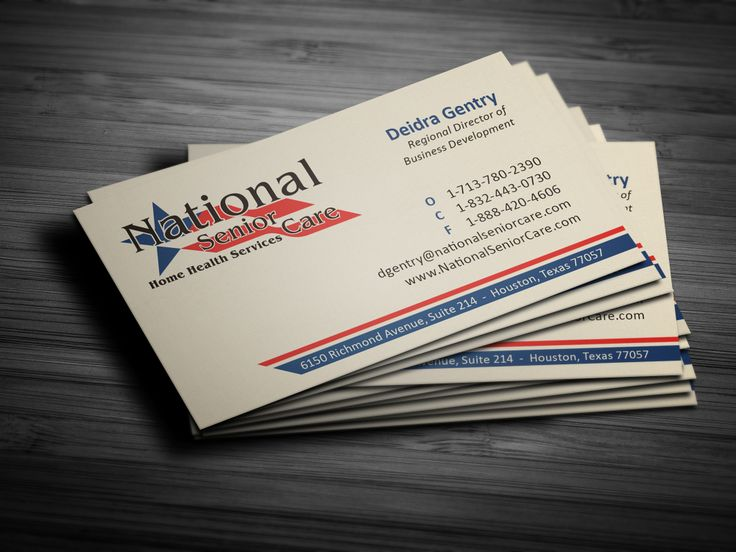 27 best business cards images on pinterest business card design national senior care business card printed by alphagraphics sugar land reheart Images