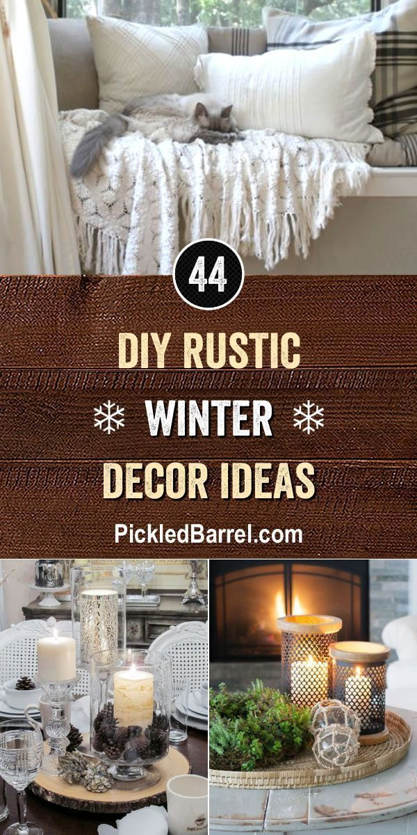 diy rustic winter decor ideas home decor inspiration pinterest rh pinterest com
