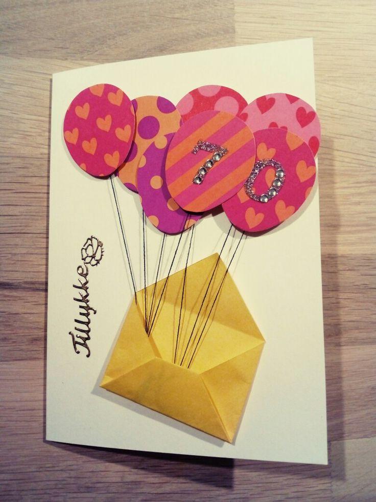 diy kort til 70 års fødselsdag | Fødselsdagskort diy
