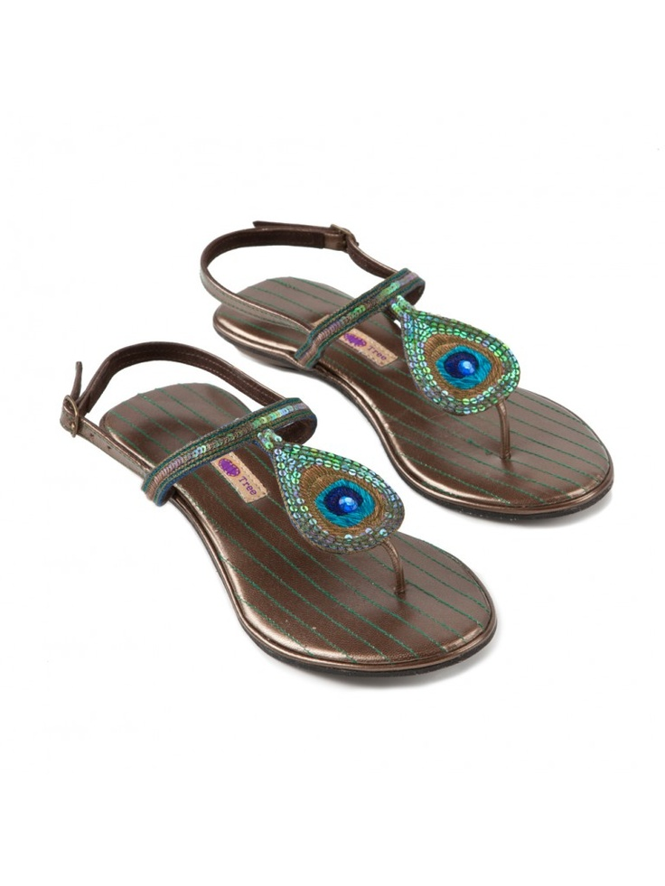 Plum Tree Peacock Sandals