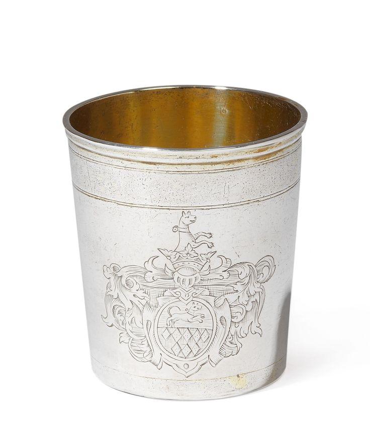 Andreas Betz, Marks of Andreas Betz, 2nd half 17th C.An important Trier silver gilt beaker, Auction 1066 Decorative Arts, Lot 1025 #lempertz #silver #artdeco #art #artauction #cologne