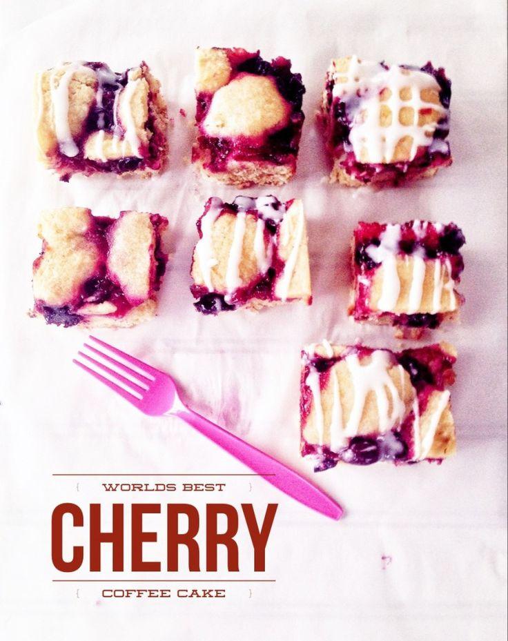 Worlds BEST Cherry Coffee Cake. (Gluten/Grain/Dairy Free)