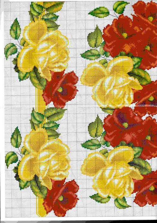 Gallery.ru / Фото #69 - схемы для вышиванок - zhivushaya