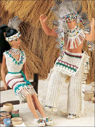 Native american Barbie and Ken costumes.Yeah baby, rock it Barbie and Ken.