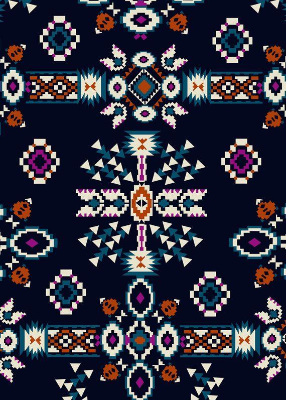 NEWLOOK A/W 2014 - marisahopkins.com #tribal #geometrics #boho