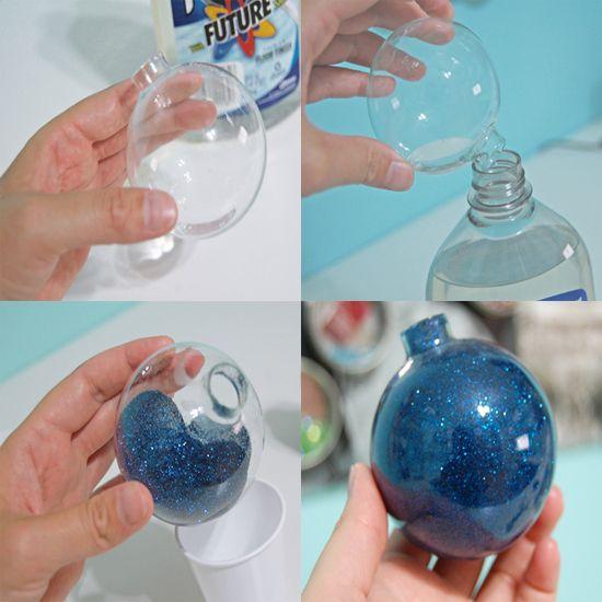 M s de 25 ideas incre bles sobre bolas de navidad en - Como decorar una bola de navidad ...