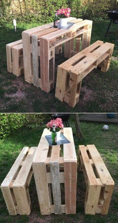 furniture made from skids diy pallet patio furniture pallet rh pinterest com