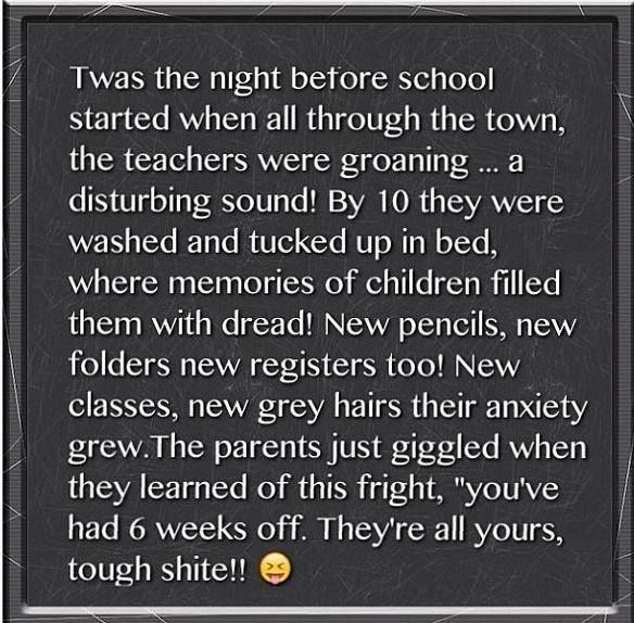 """This will cheer you up the night before school – """"twas the night before school"""""""